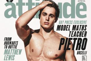 Sexy PhD and Male Model Pietro Boselli Strips Down For Attitude