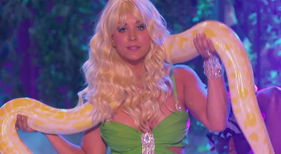 Kaley Cuoco Slays 4 U as Britney Spears on Lip Sync Battle  Male