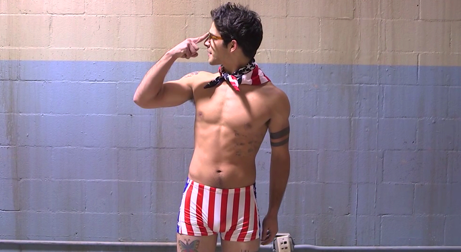Check Out Tyler Poseys Patriotic Package On The Teen Wolf After